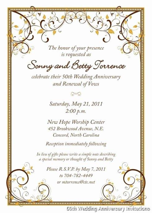 50th Anniversary Invitation Templates Elegant 60th Wedding Anniversary Invitations Templates … Boda