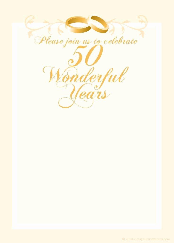 50th Anniversary Invitation Templates Inspirational Free Anniversary Invitation Templates Cleavercrafts