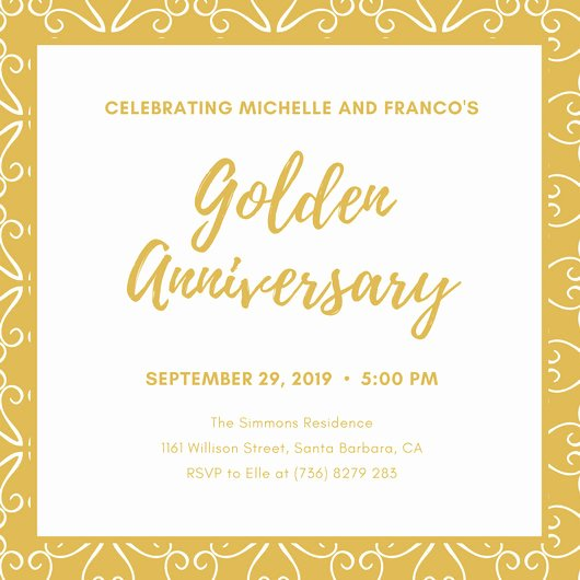 50th Anniversary Invitation Templates Lovely Customize 1 796 50th Anniversary Invitation Templates Online Canva
