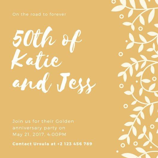 50th Anniversary Invitation Templates Lovely Customize 1 796 50th Anniversary Invitation Templates Online Canva