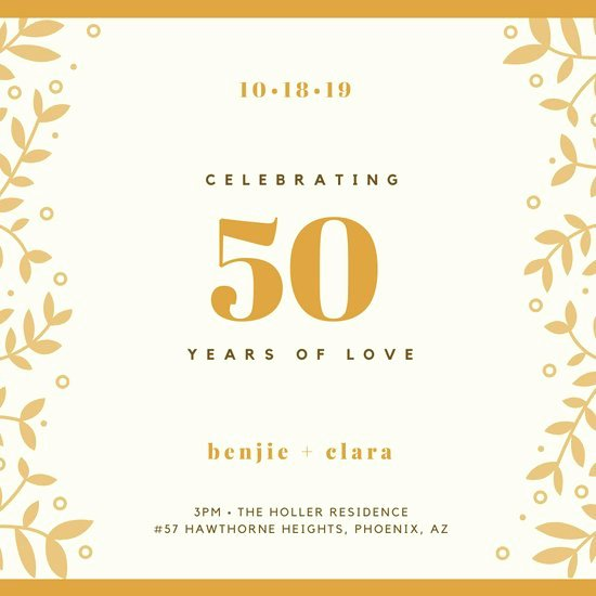 50th Anniversary Invitation Templates Luxury Customize 388 50th Anniversary Invitation Templates Online Canva