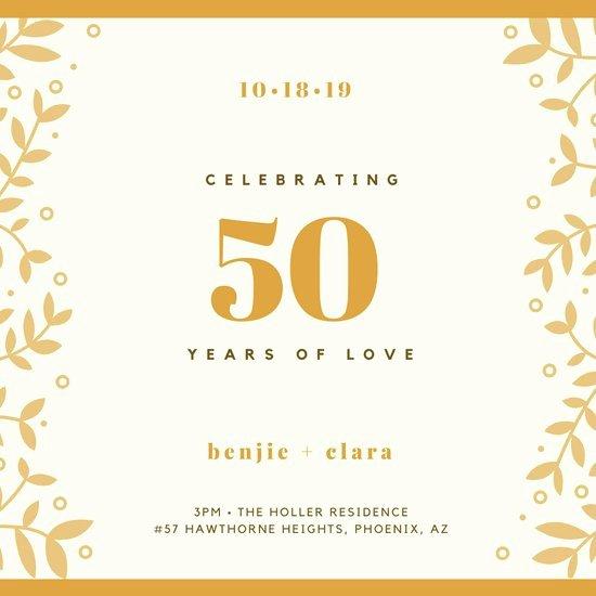 50th Anniversary Invitation Templates Luxury Customize 388 50th Anniversary Invitation Templates Online Canva