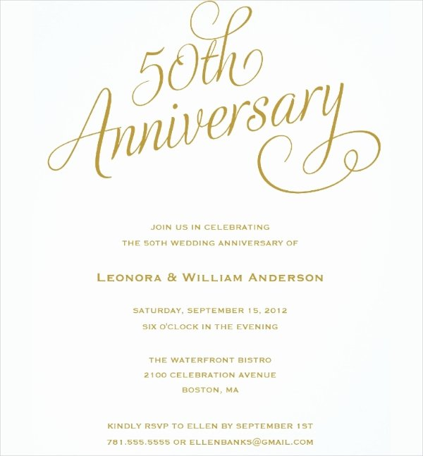 50th Anniversary Invitation Templates Unique 23 Wedding Anniversary Invitation Card Templates Word Psd Ai Indesign