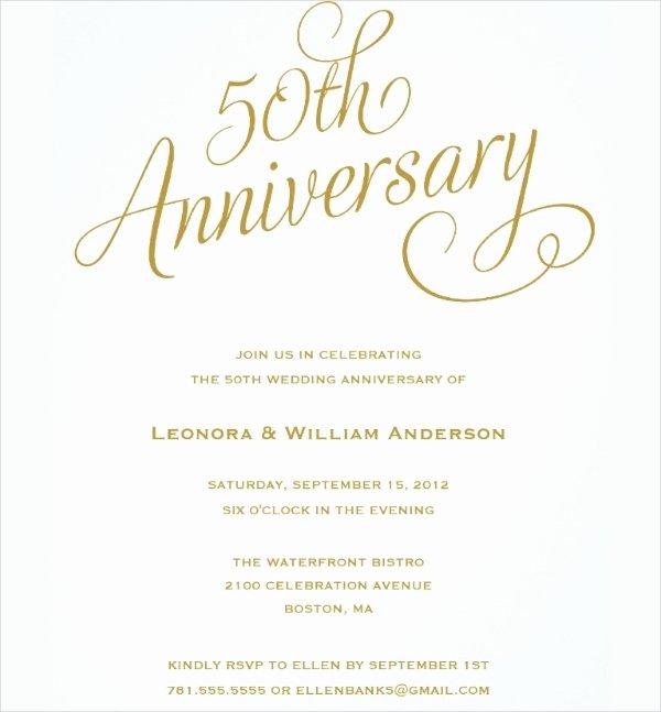 50th Anniversary Invitation Templates Unique 23 Wedding Anniversary Invitation Card Templates Word Psd Ai Indesign