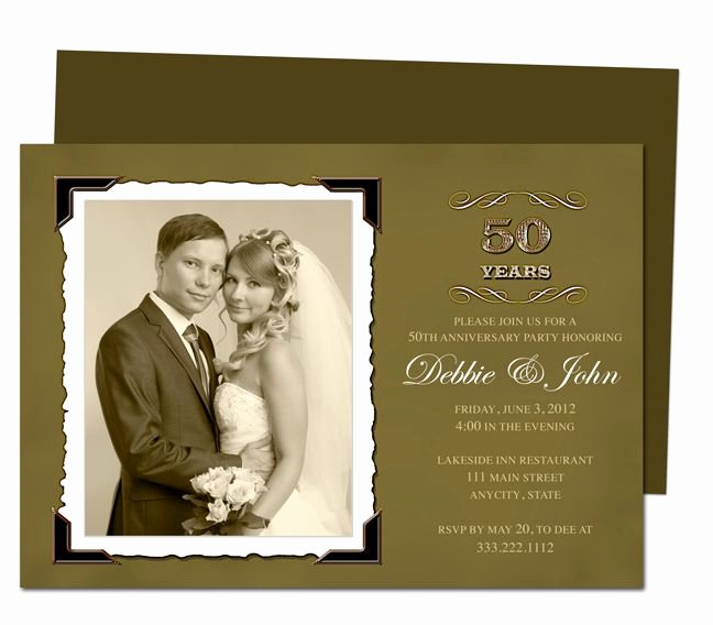 50th Anniversary Invitations Templates Awesome Wedding Anniverary Invitation Templates Vintage Golden 50th Wedding Anniversary Party Invita