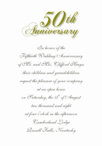 50th Anniversary Invitations Templates Best Of Free Wedding Templates