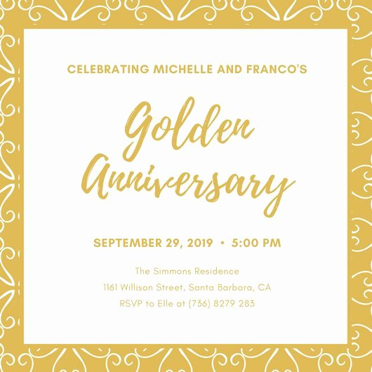 50th Anniversary Invitations Templates Elegant Customize 1 796 50th Anniversary Invitation Templates Online Canva