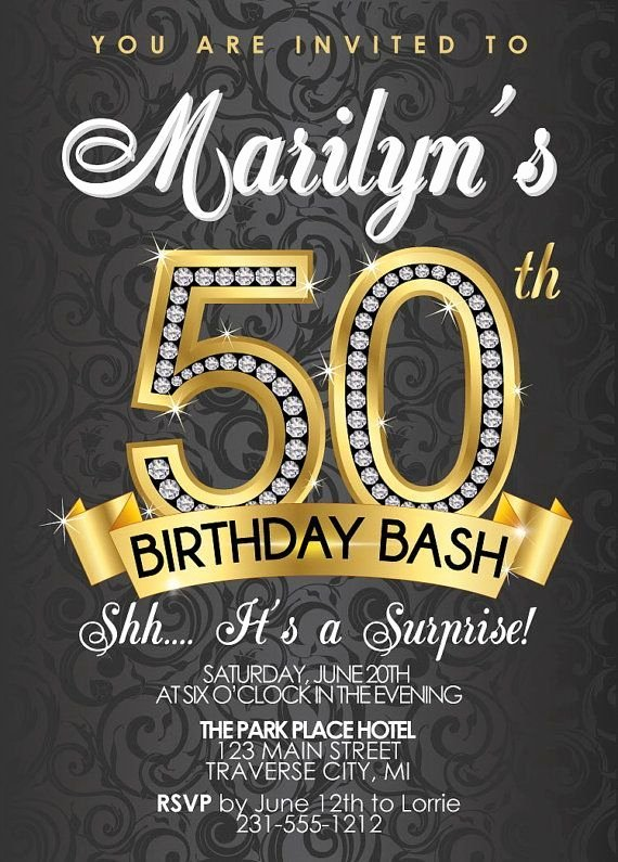 50th Anniversary Invitations Templates Fresh 50th Birthday Invitations Templates Free Alvia S