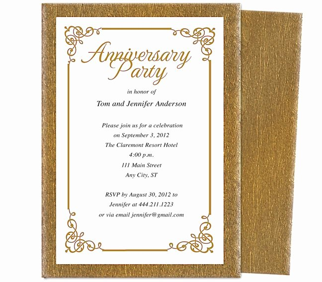 50th Anniversary Invitations Templates Fresh Wedding Anniversary Party Templates Laurel Wedding Anniversary Party Invitation Template Acc