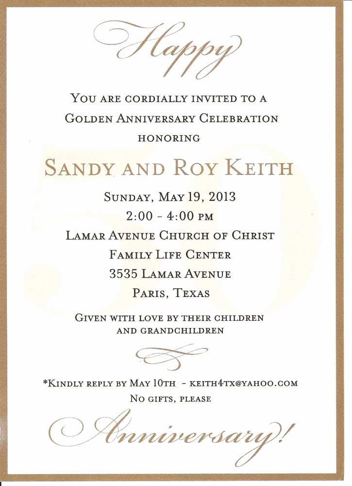 50th Anniversary Invitations Templates Luxury 50th Anniversary Invitation