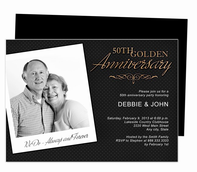 50th Anniversary Invitations Templates Luxury 9 Best 25th & 50th Wedding Anniversary Invitations Templates Images On Pinterest