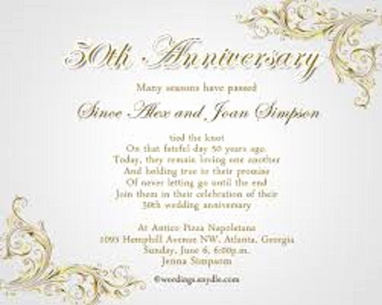 50th Anniversary Invitations Templates Luxury Wedding Anniversary Invitations Wording Buick
