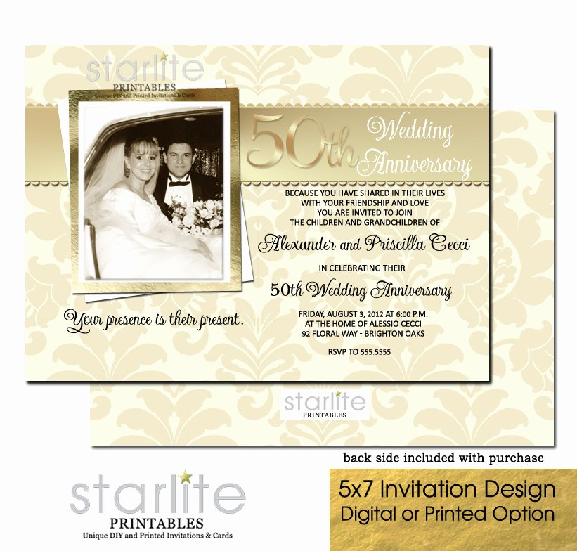 50th Anniversary Invitations Templates New 50th Wedding Anniversary Invitation 50th Wedding