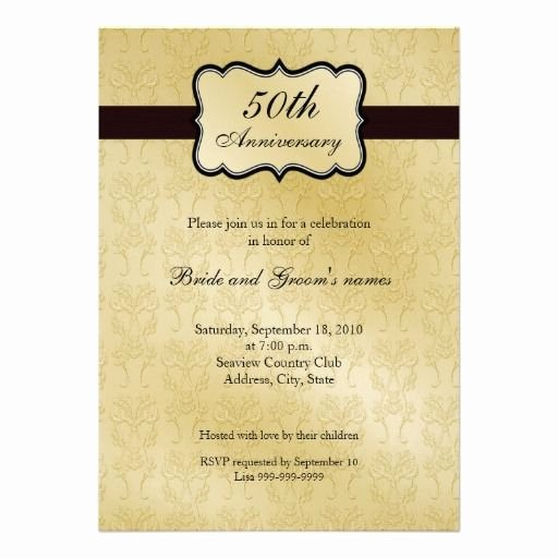 50th Wedding Anniversary Invitations Templates Awesome 50th Anniversary Invitations