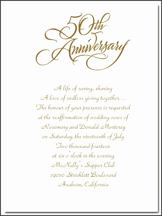 50th Wedding Anniversary Invitations Templates Elegant 6 Anniversary Invitations Template Sampletemplatess Sampletemplatess