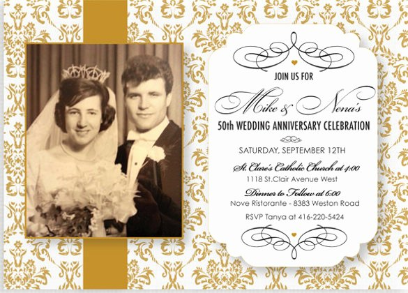 50th Wedding Anniversary Invitations Templates Inspirational 50th Wedding Anniversary Invitations Templates