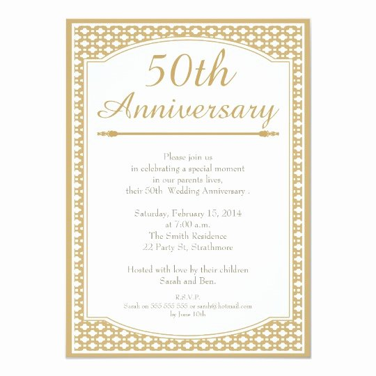 50th Wedding Anniversary Invitations Templates New 50th Wedding Anniversary Invitation