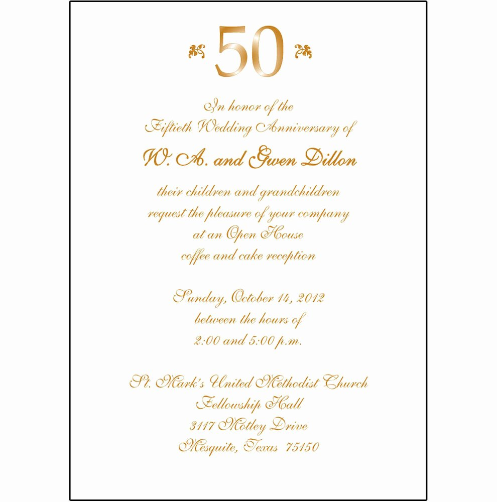 50th Wedding Anniversary Invitations Templates Unique 25 Personalized 50th Wedding Anniversary Party Invitations Ap 007