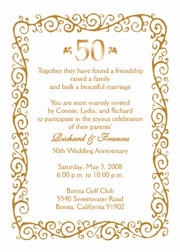 50th Wedding Anniversary Program Awesome 6 Best Of 50th Wedding Anniversary Program Samples