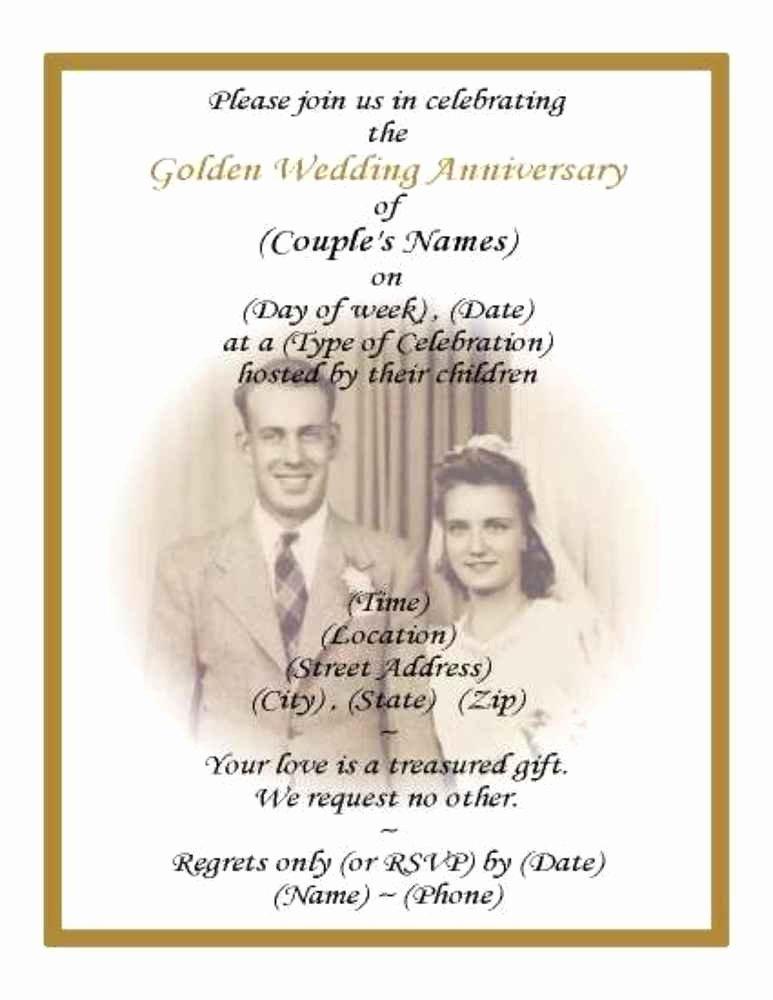 50th Wedding Anniversary Program Beautiful 60 50th Golden Wedding Anniversary Photo Invitations