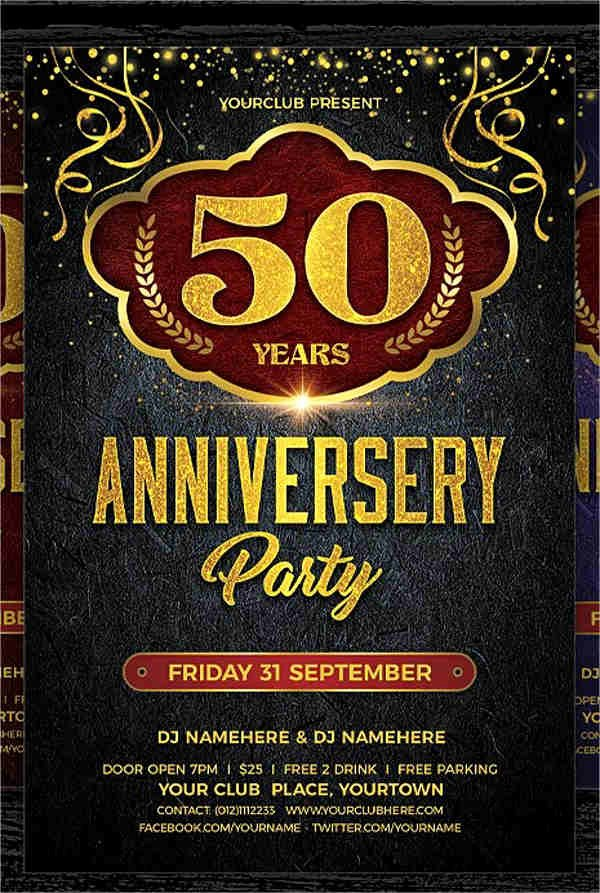 50th Wedding Anniversary Program New 8 Wedding Party Program Templates Psd Vector Eps Ai