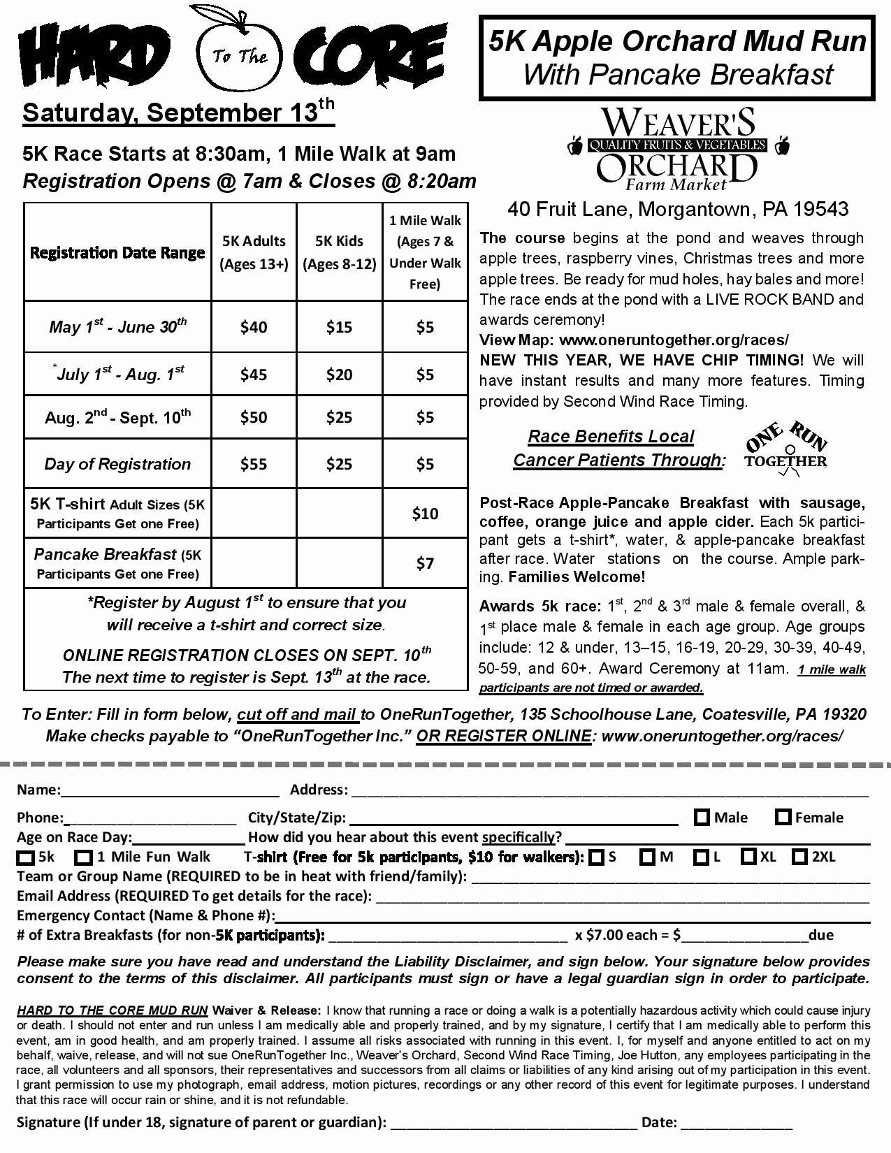 5k Race Registration form Template Fresh 5k Registration forms or forms are Available at Bicycleworks Sportseller and Bermuda Cancer and