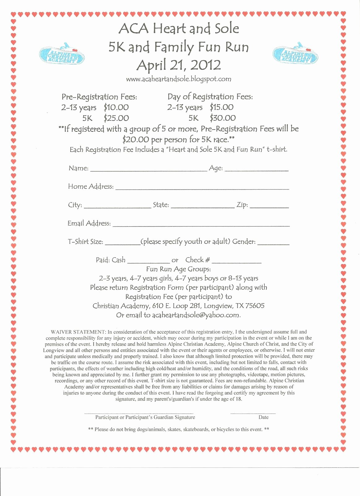5k Race Registration form Template Lovely form Design Category Page 18 Jemome