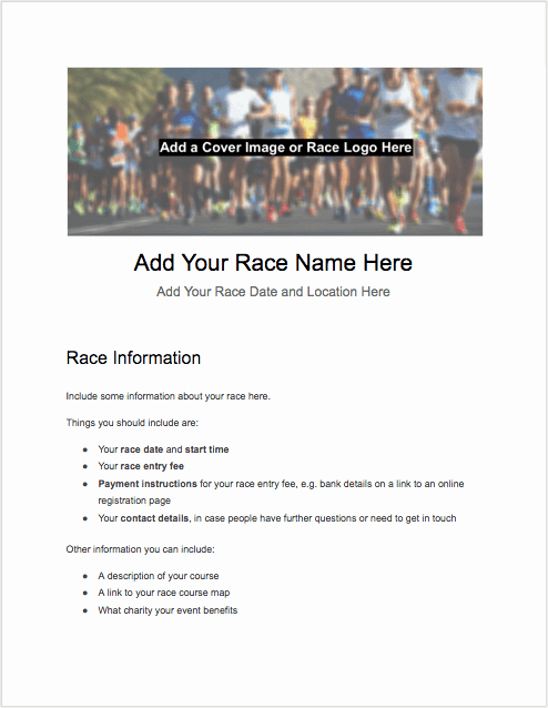 5k Race Registration form Template Luxury 5k Registration form Templates