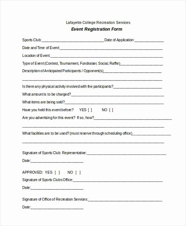 5k Race Registration form Template New Registration forms Template Free
