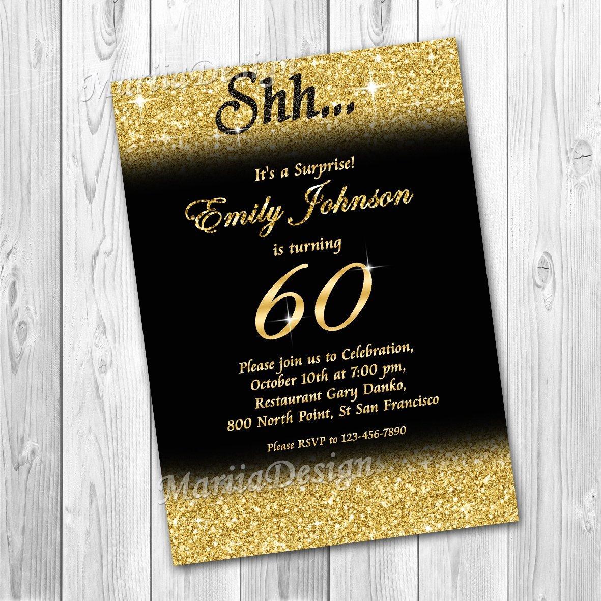 60 Th Birthday Invitation Best Of 50th Birthday Invitation 60th Birthday Invitation Gold