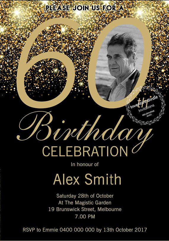 60 Th Birthday Invitation Elegant Surprise 60th Birthday Invitation 60th Birthday Invite