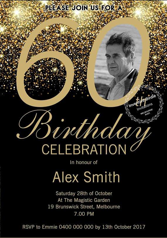 60 Th Birthday Invitation Elegant Surprise 60th Birthday Invitation 60th Birthday Invite
