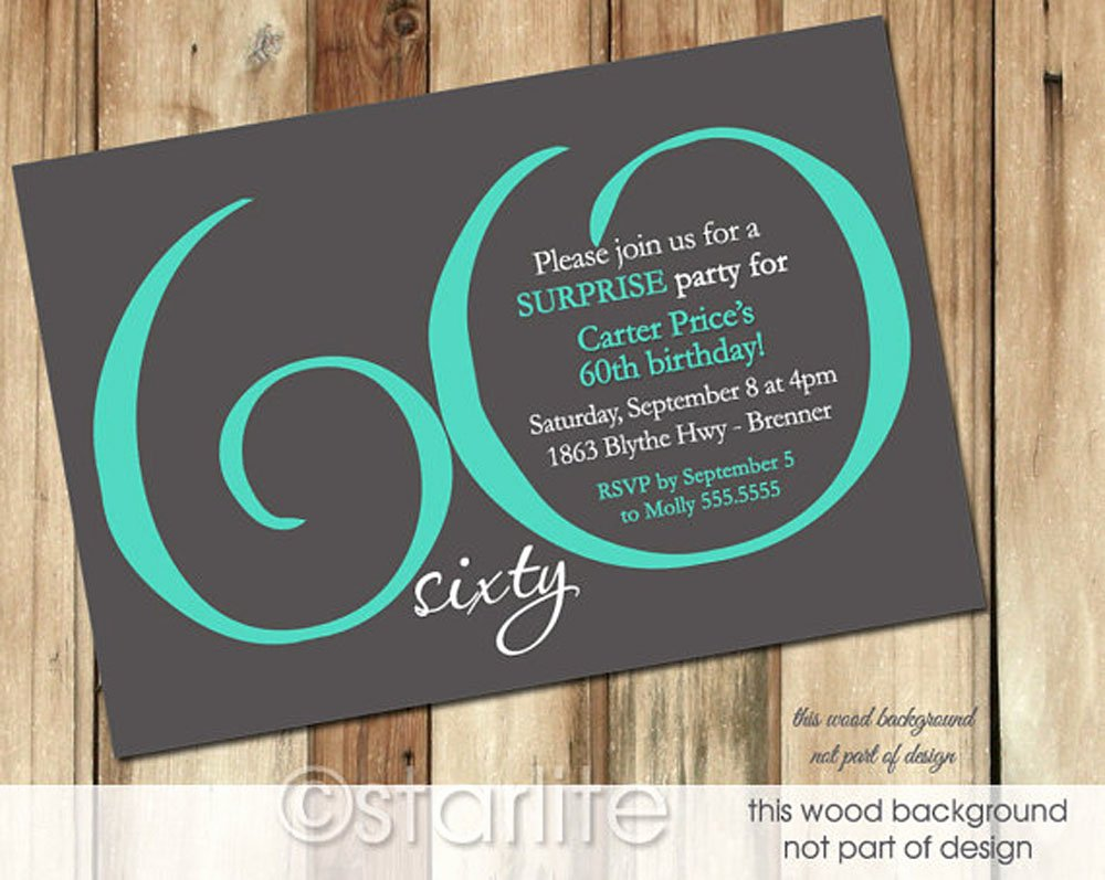 60 Th Birthday Invitation Inspirational 20 Ideas 60th Birthday Party Invitations Card Templates