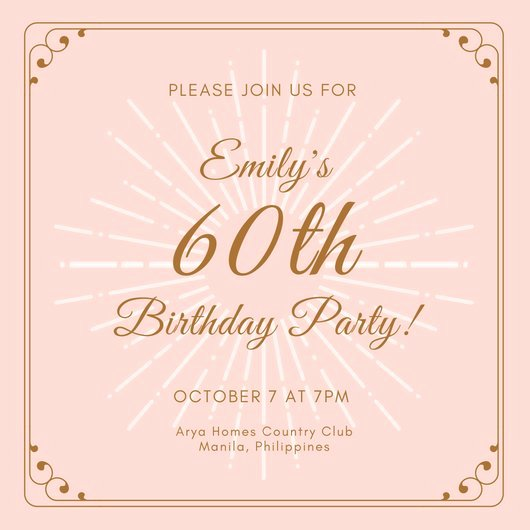 60 Th Birthday Invitation Inspirational Customize 986 60th Birthday Invitation Templates Online