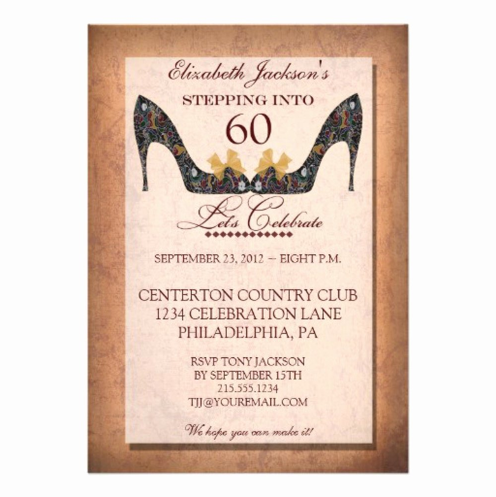 60 Th Birthday Invitation Lovely 20 Ideas 60th Birthday Party Invitations Card Templates