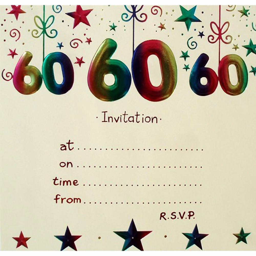 60 Th Birthday Invitation Lovely 20 Ideas 60th Birthday Party Invitations Card Templates