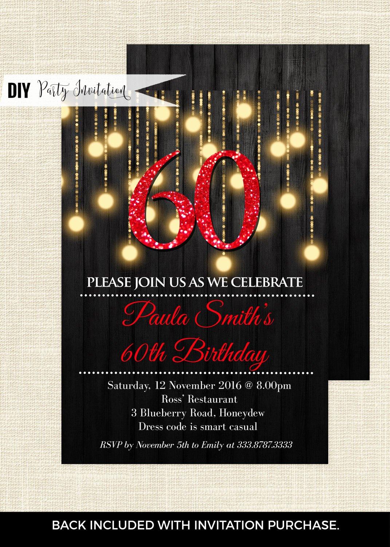 60 Th Birthday Invitation Unique Red 60th Birthday Invitations 60th Birthday Invitations for