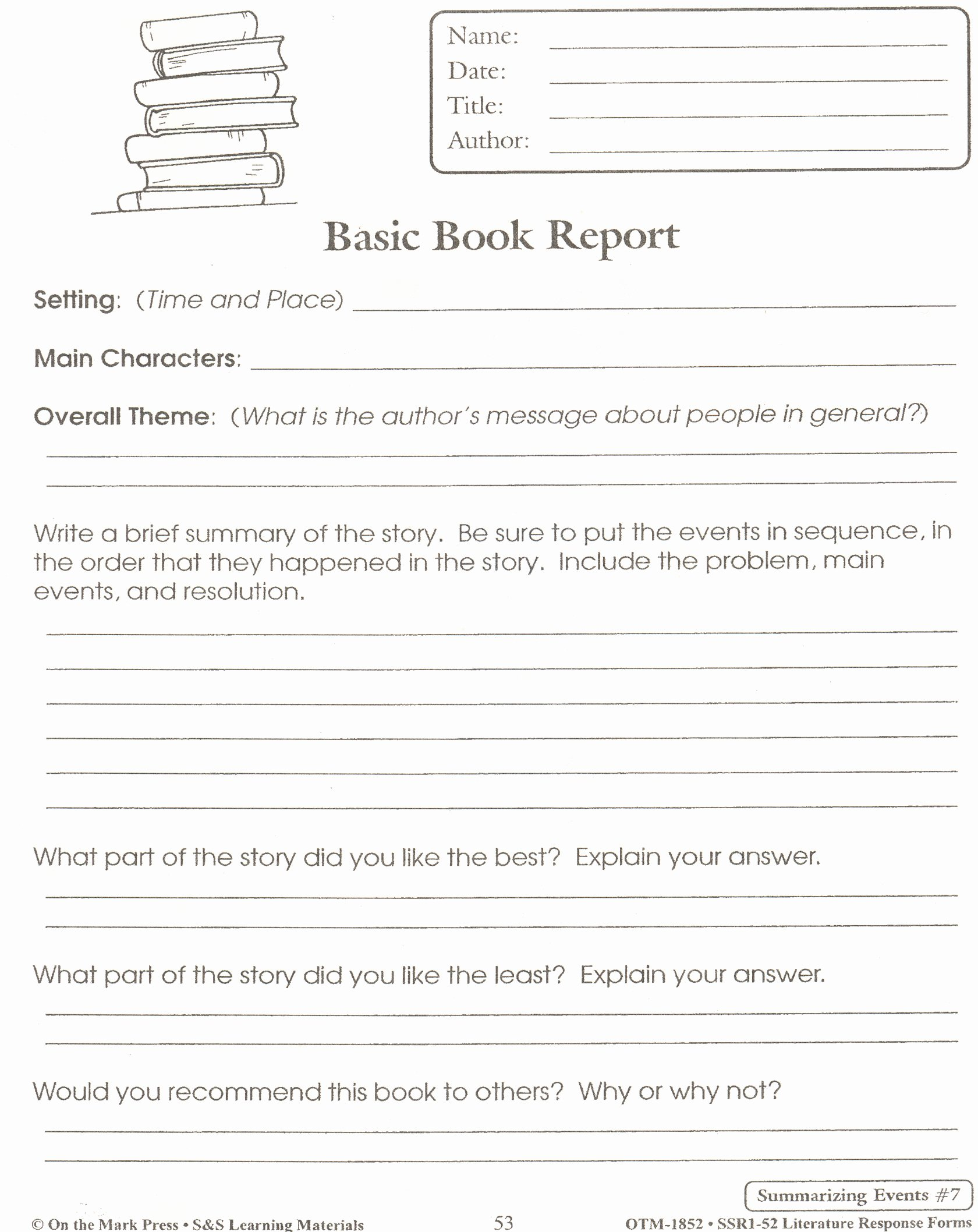 6th Grade Book Report Template Beautiful Best S Of Book Report Template 5th Grade 5th Grade Book Report Template 6th Grade Book