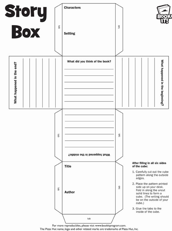 6th Grade Book Report Template Best Of Book Report Cube 6th Grade