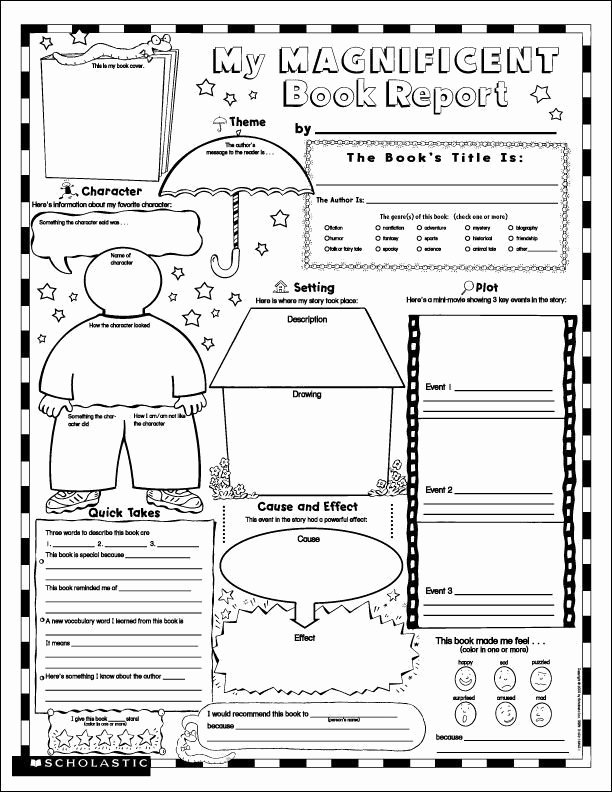 6th Grade Book Report Template Fresh for 4th Grade 7 Best Images Of Free Printable Book Report Templates 8hp2xaac