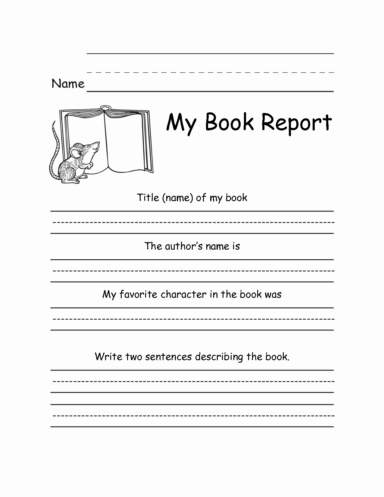 6th Grade Book Report Template Luxury 16 Best Of 5th Grade Book Report Worksheet 5th Grade Book Report Outline Template 3rd