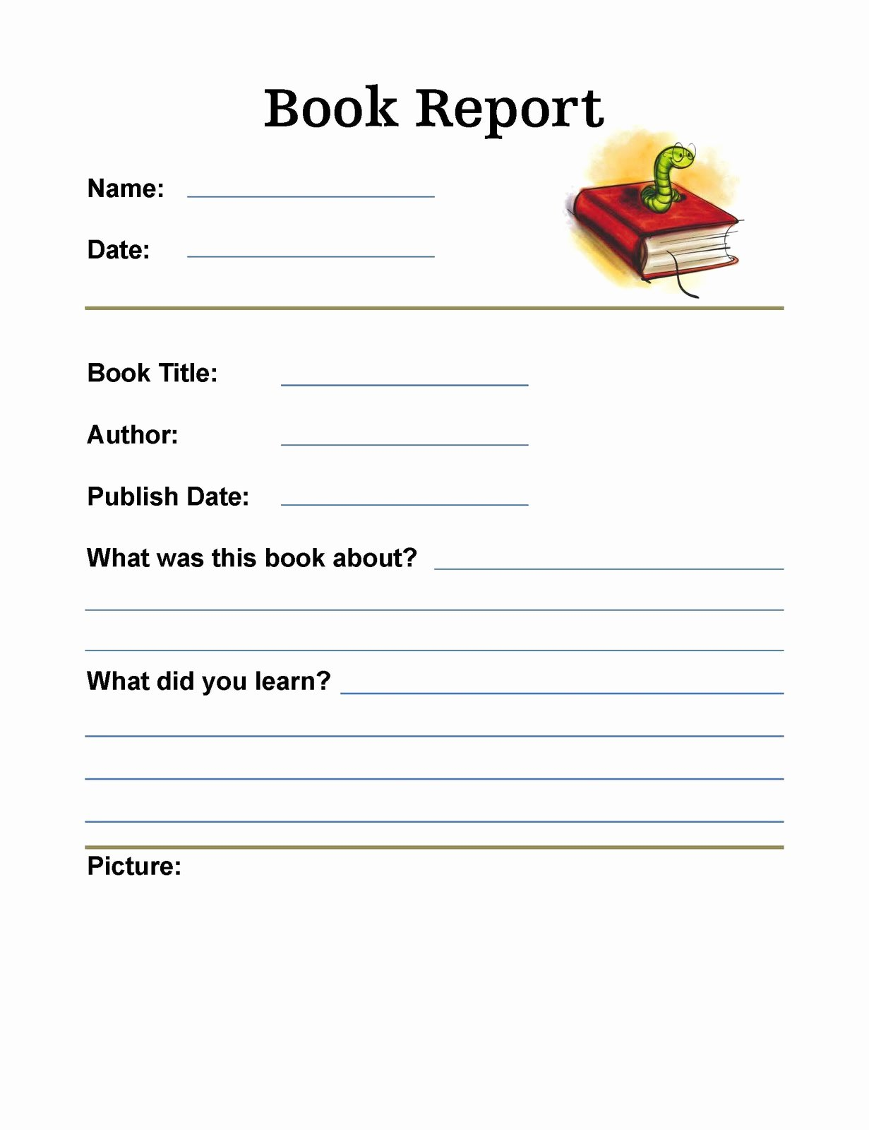 6th Grade Book Report Template Luxury so Much to Learn Book Reports