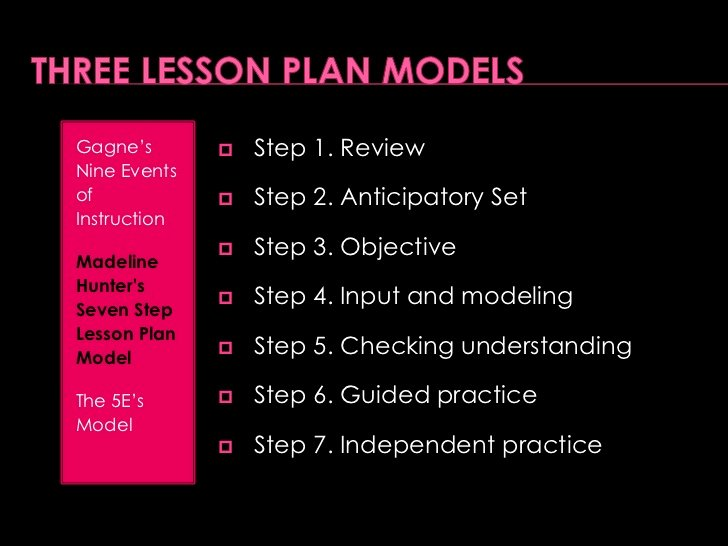 7 Step Lesson Plan Lovely Lesson Plan Powerpoint Presentation