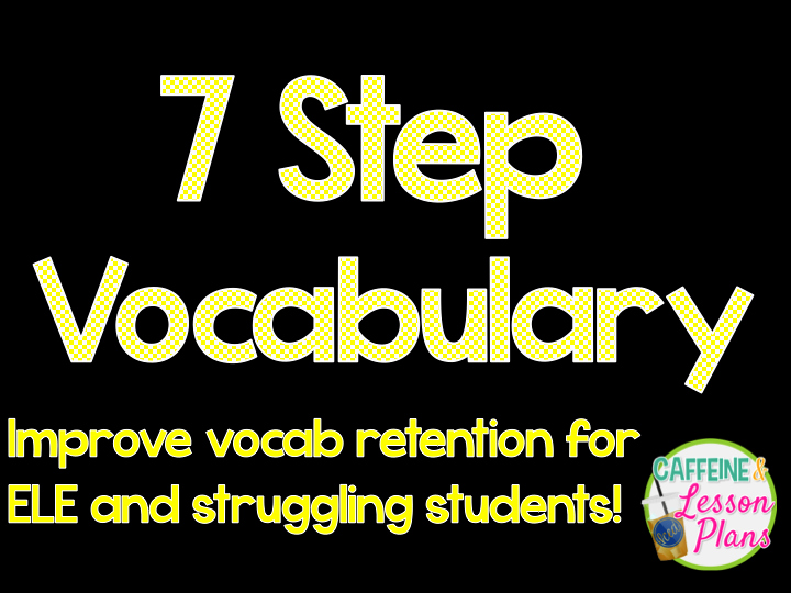 7 Step Lesson Plan New Caffeine and Lesson Plans 7 Step Vocabulary