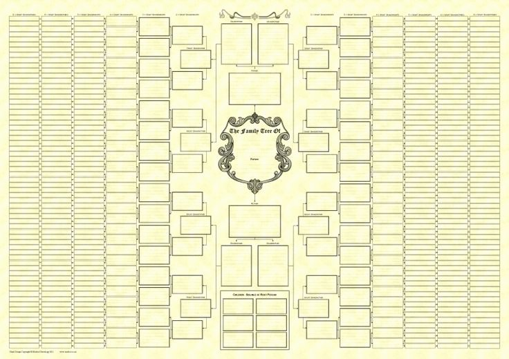 8 Generation Family Tree Template Beautiful 10 Generation Monochrome Bow Tie Chart