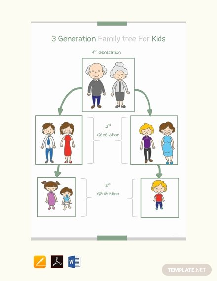 8 Generation Family Tree Template Beautiful Free Four Generation Genogram Template Download 58