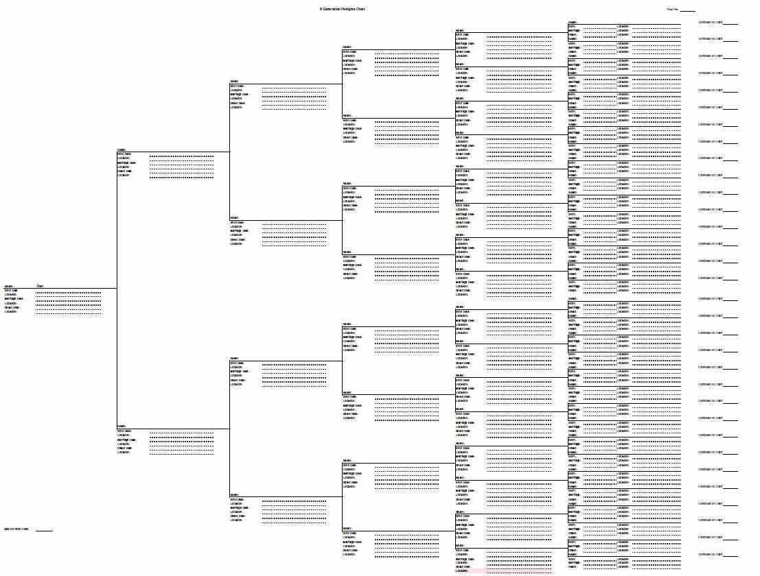 8 Generation Family Tree Template Inspirational 5 Gen Pedigree Chart