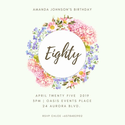 80th Birthday Invitation Templates Beautiful Customize 985 80th Birthday Invitation Templates Online