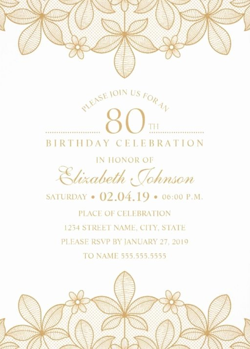 80th Birthday Invitation Templates Inspirational 80th Birthday Invitations
