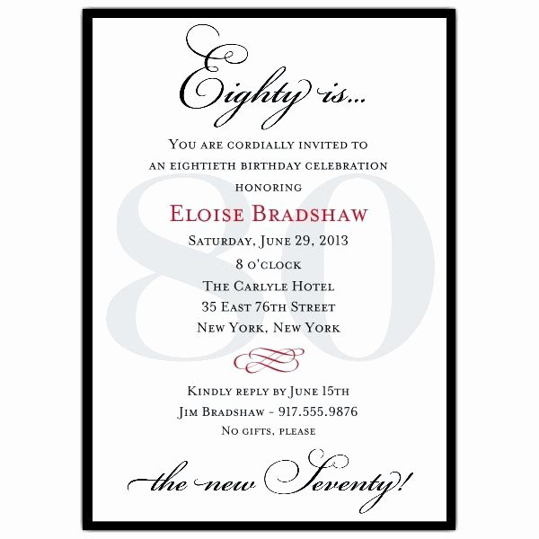 80th Birthday Invitation Templates Lovely Templates for 80th Birthday Save the Date Google Search